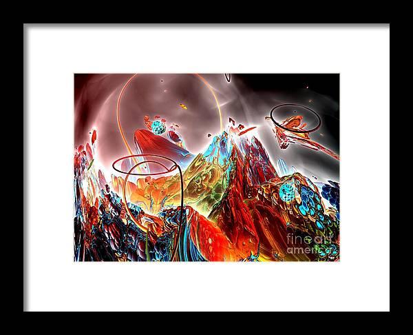 Fractal Art Framed Print featuring the digital art Oniric - 1 by Bernard MICHEL
