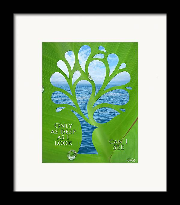 Poetry Framed Print featuring the mixed media Only As Deep As I Look Can I See by Nikki Smith