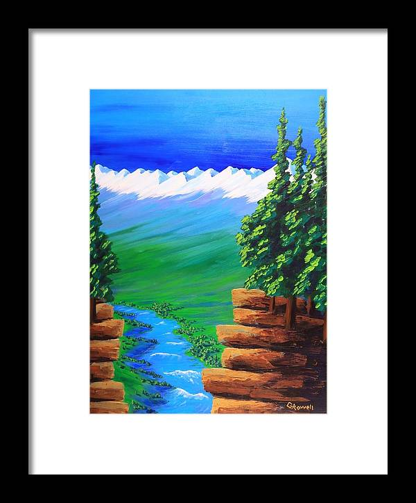 Landscape Framed Print featuring the painting Open My Eyes Lord by Gary Rowell