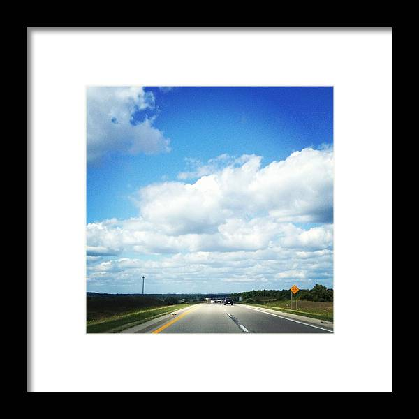Landscape Framed Print featuring the photograph Open Road by Christy Beckwith