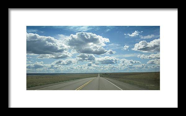 Montana Framed Print featuring the photograph Open Road by Dave Johnson