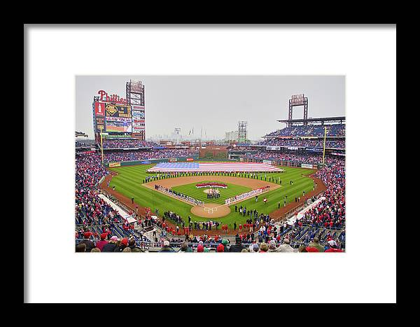 Photography Framed Print featuring the photograph Opening Day Ceremonies Featuring by Panoramic Images