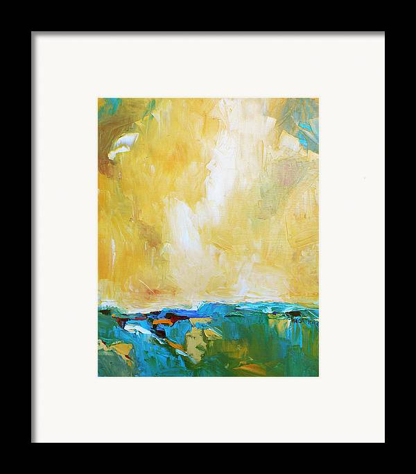 Landscape Framed Print featuring the painting Openness by Becky Kim