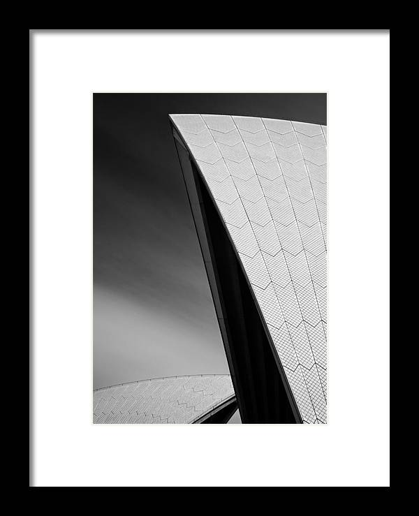Sydney Opera House Framed Print featuring the photograph Opera House by Dave Bowman