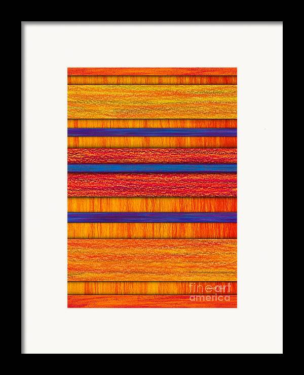 Colored Pencil Framed Print featuring the painting Orange And Blueberry Bars by David K Small