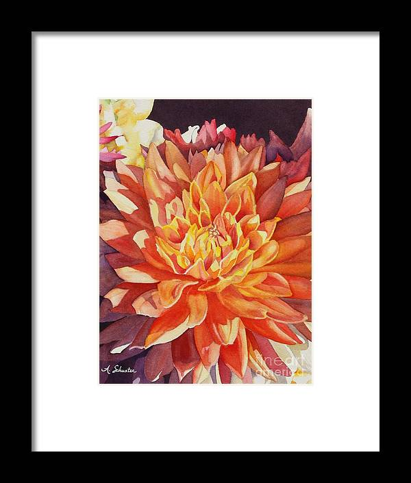 Floral Framed Print featuring the painting Orange Beauty by Amanda Schuster