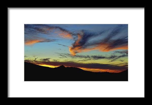 Arizona Framed Print featuring the photograph Orange Dragon Sunset by Ryan Seek