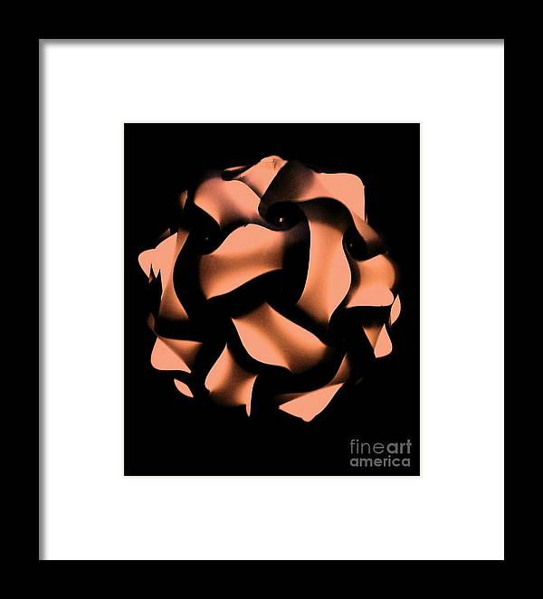 Framed Print featuring the photograph Orange Honeycomb by Kelly Awad