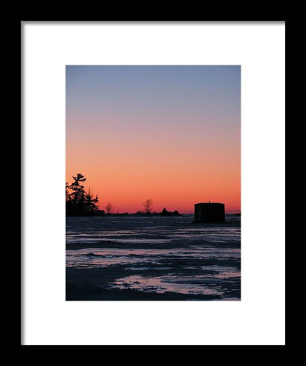 Framed Print featuring the photograph Orange Ice by Matthew Barton
