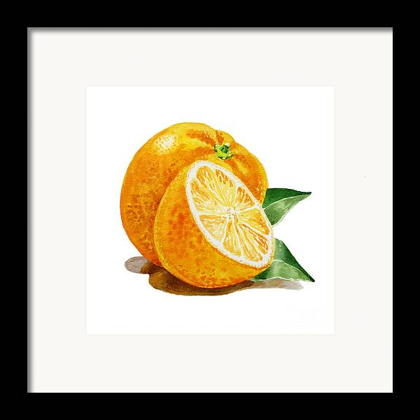 Orange Framed Print featuring the painting Orange by Irina Sztukowski