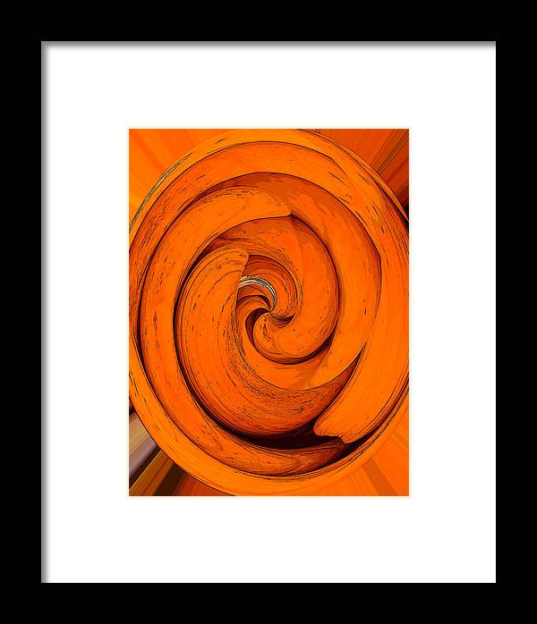 Orange Peal Framed Print featuring the painting Orange Peal by David Lee Thompson