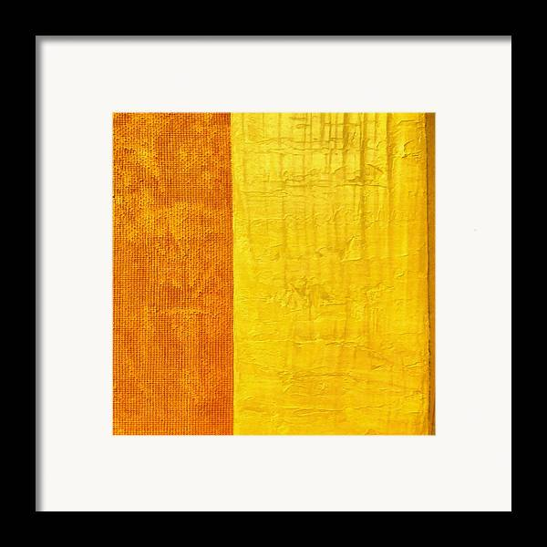 Abstract Paintings Framed Print featuring the painting Orange Pineapple by Michelle Calkins
