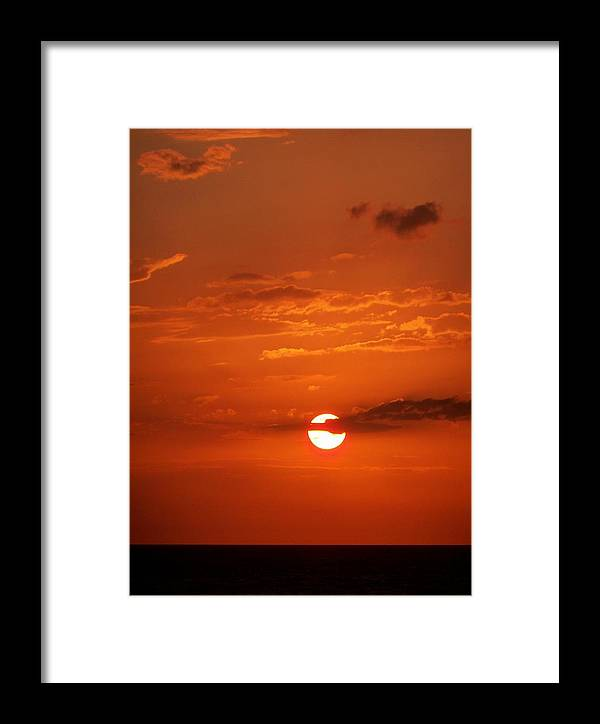 Tampa Framed Print featuring the photograph Orange Sun by Katie Beougher