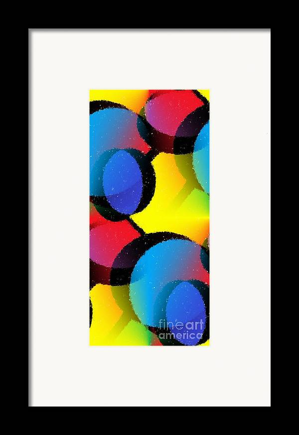 Abstract Framed Print featuring the mixed media Orbit by Chris Butler