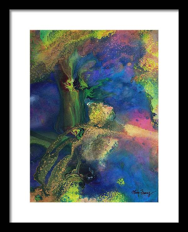 Orchids Framed Print featuring the painting Orchids by Ming Franz