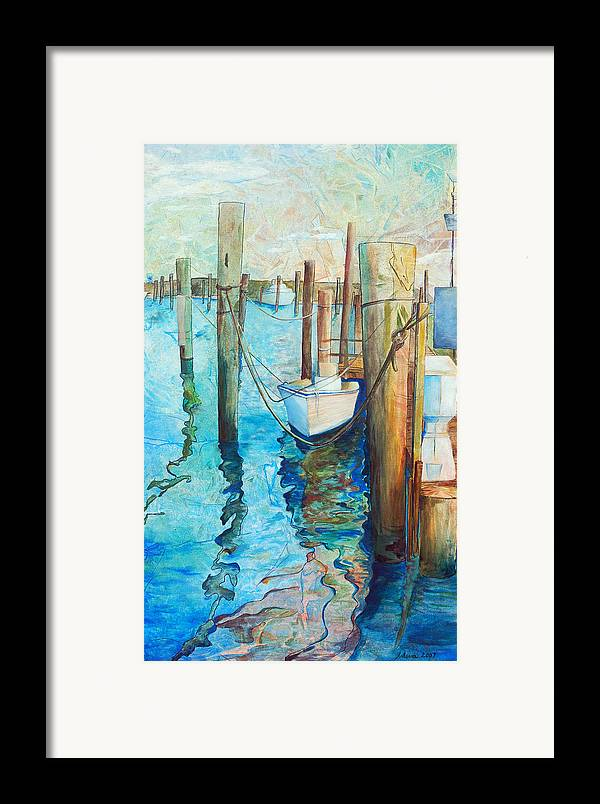 North Carolina Framed Print featuring the painting Oregon Inlet by Arlissa Vaughn