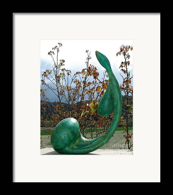 Woman Torso Poster Framed Print featuring the sculpture Organic 3 by Flow Fitzgerald