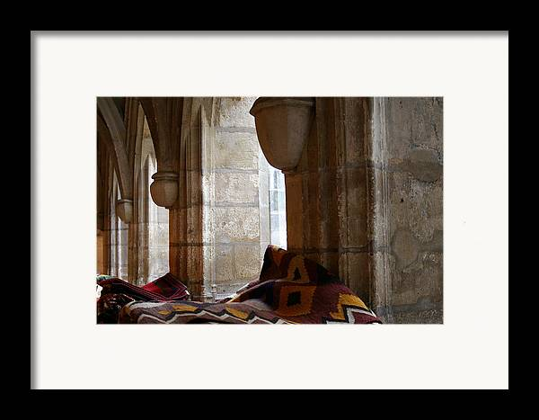 Rugs Framed Print featuring the photograph Oriental Rugs In Paris by A Morddel