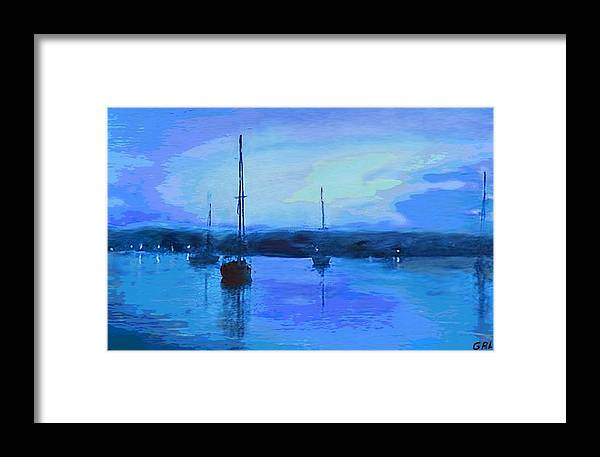 Maryland Framed Print featuring the painting Original Digital Painting Quiet Evening by G Linsenmayer
