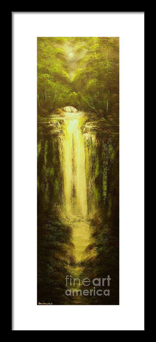 Waterfall Framed Print featuring the painting High Falls-original Sold-buy Giclee Print Nr 37 Of Limited Edition Of 40 Prints  by Eddie Michael Beck