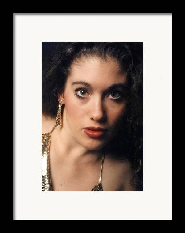 Self Portrait Framed Print featuring the photograph Original Used For Self Portrait by Teri Schuster