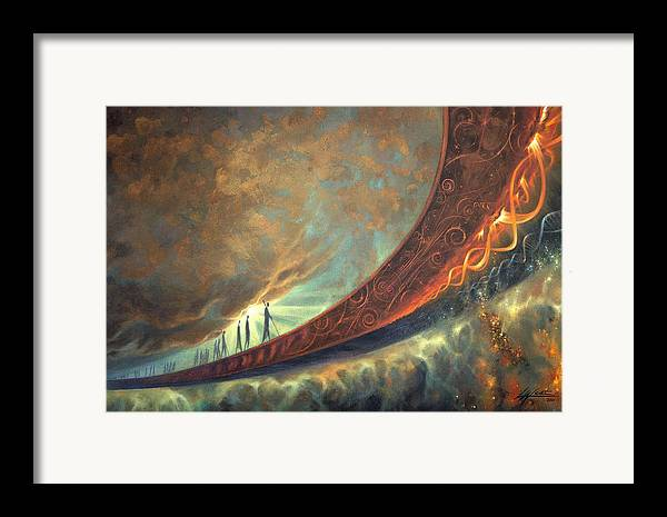 Humanity Framed Print featuring the painting Origins by Lucy West