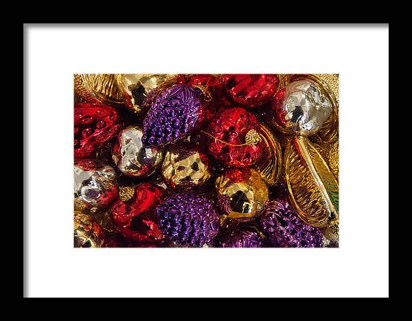 Ornaments Framed Print featuring the photograph Ornaments by Kevin Jarrett