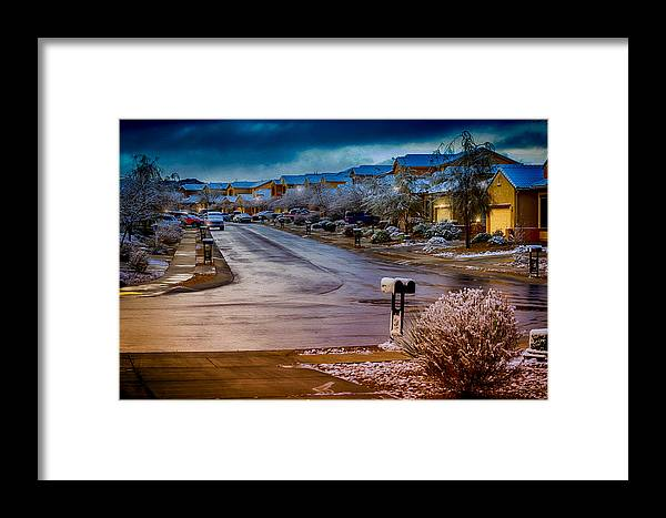 Myhaver Photography Framed Print featuring the photograph Oro Valley Winter No.54 by Mark Myhaver