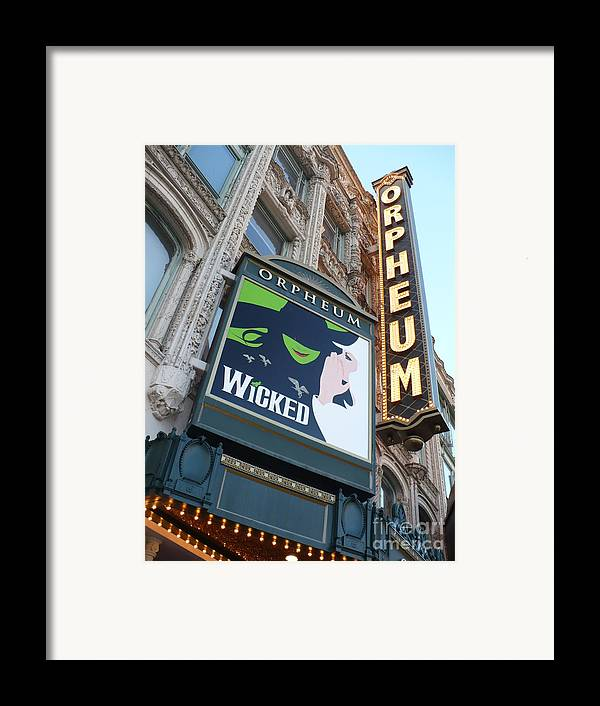 City Framed Print featuring the photograph Orpheum Sign by Carol Groenen