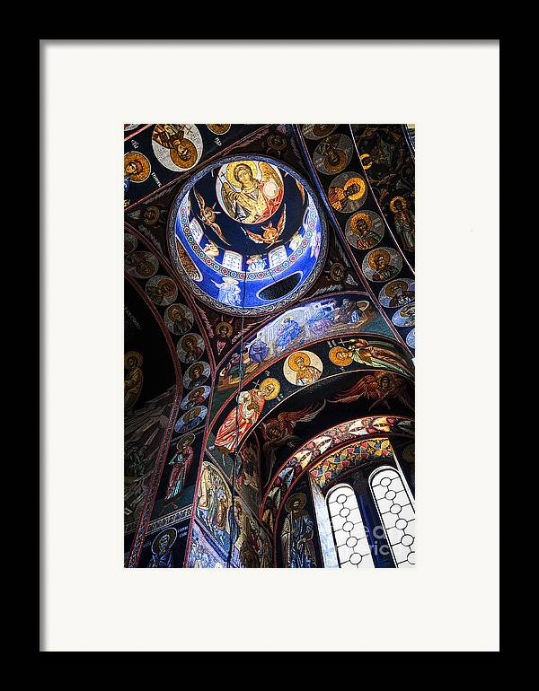Mosaic Framed Print featuring the photograph Orthodox Church Interior by Elena Elisseeva