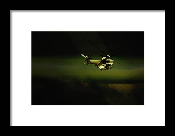 Helicopter Framed Print featuring the photograph Oryx by Paul Job