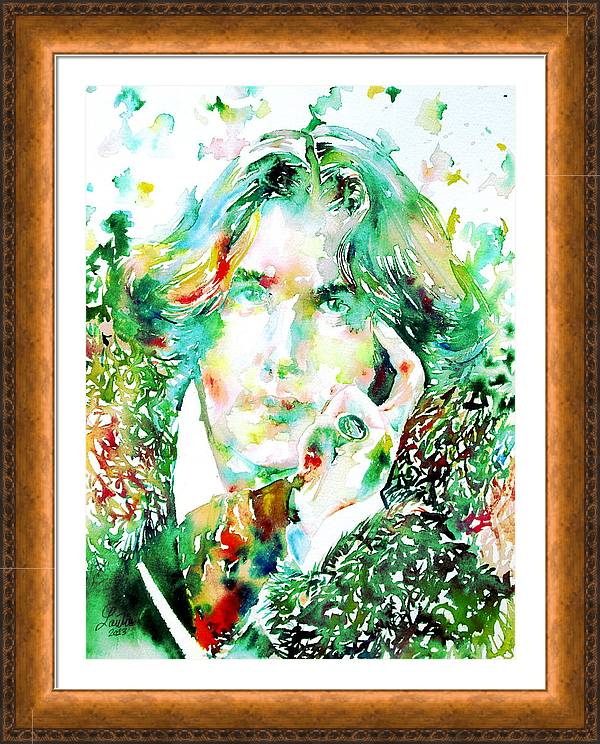 Oscar Wilde Watercolor Portrait.2 by Fabrizio Cassetta