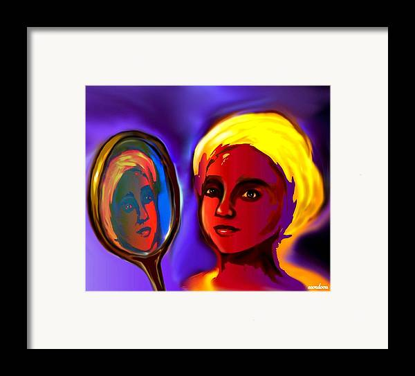Oshun Framed Print featuring the digital art Oshun -goddess Of Love by Carmen Cordova