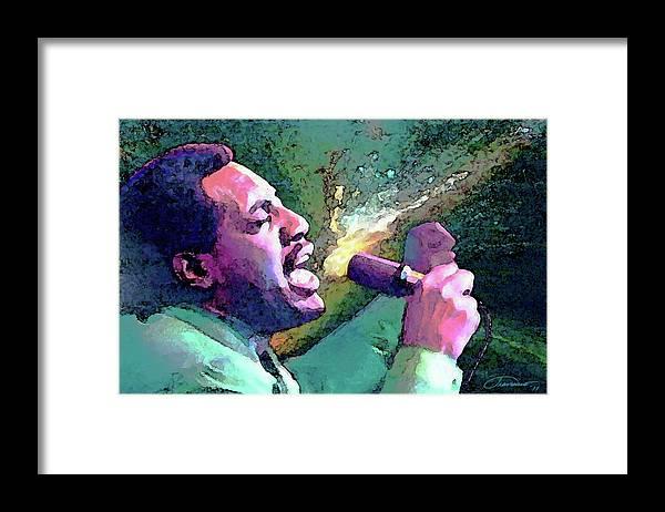Otis Redding Framed Print featuring the painting Otis Redding by John Travisano