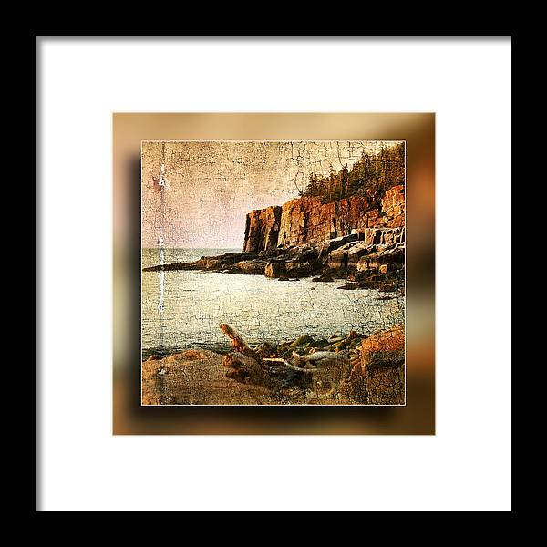 Otter Cliffs Framed Print featuring the photograph Otter Cliffs Acadia National Park by Don Powers