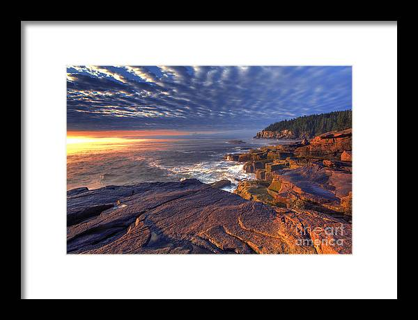 Otter Cove Framed Print featuring the photograph Otter Cove Sunrise by Marco Crupi
