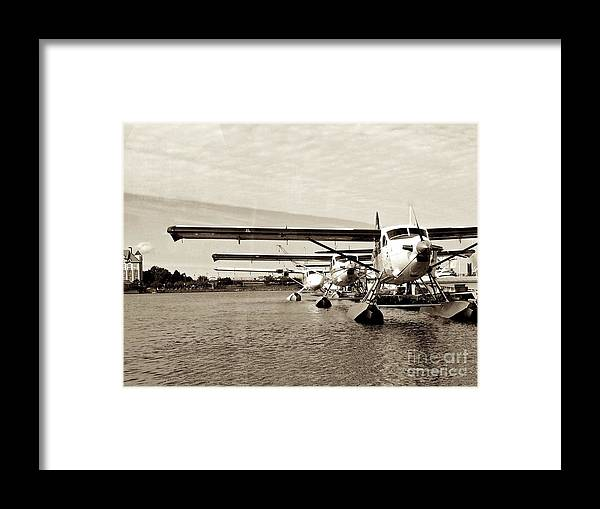 Dehavilland Turbo Otter Framed Print featuring the photograph Otter's Waiting For Work by David Tonn