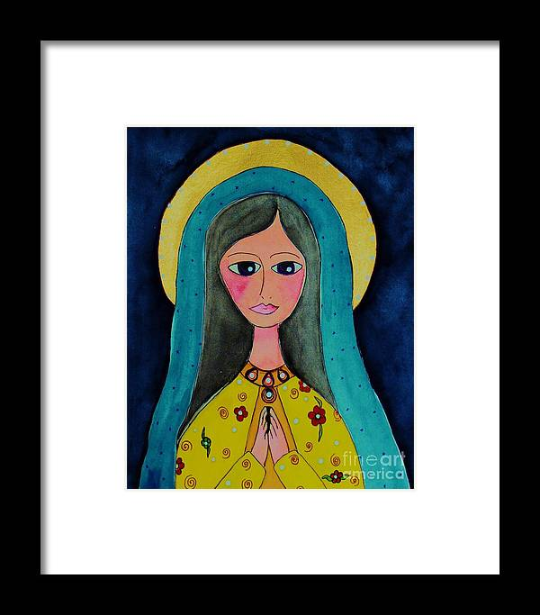Mary Framed Print featuring the painting Our Lady by Melinda Etzold