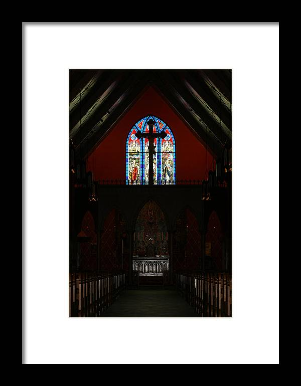 Altar Framed Print featuring the photograph Our Lady Of The Atonement by Ed Gleichman