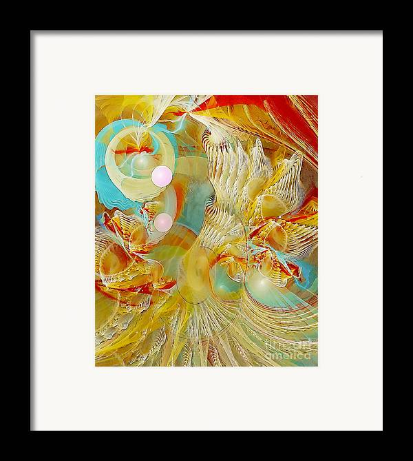 Fractal Framed Print featuring the digital art Our Souls Expand by Gayle Odsather