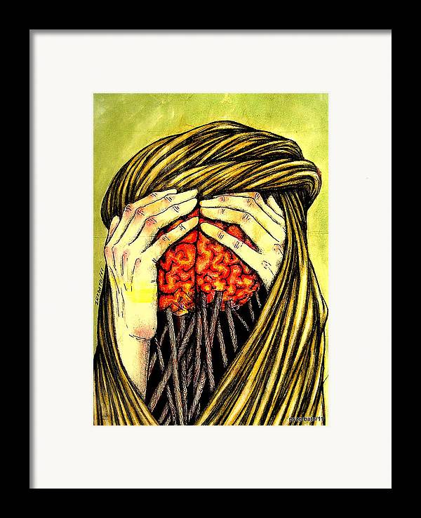 Memories Framed Print featuring the digital art Our Torments Does Not Comes From Outside Are Spiked In Our Memory by Paulo Zerbato