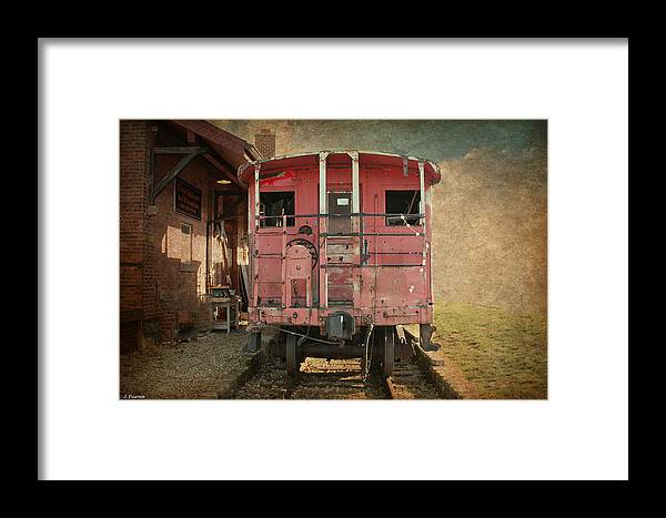 Train Framed Print featuring the photograph Out Of Service by Jackson Pearson