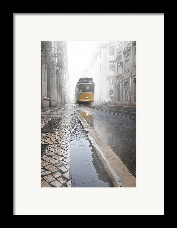 Lisbon Framed Print featuring the photograph Out Of The Haze by Jorge Maia
