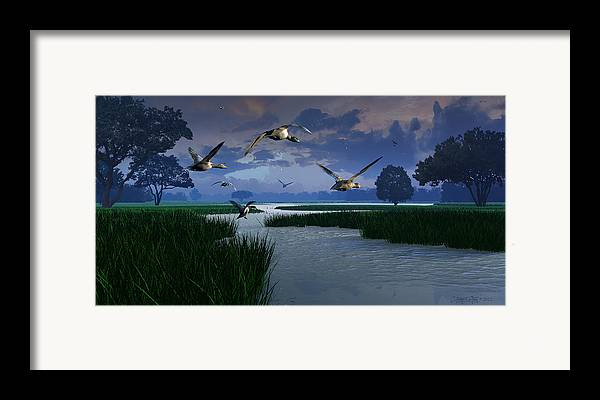 Dieter Carlton Framed Print featuring the digital art Out Of The Storm by Dieter Carlton