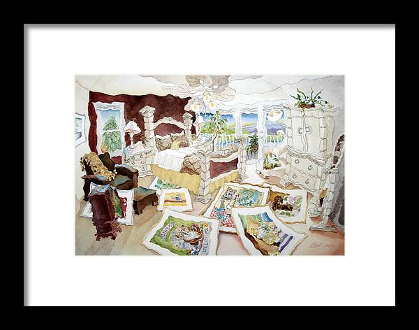 Florida Artist Framed Print featuring the painting Out Of Walls by Jacqueline Clark