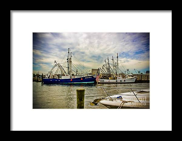 Boats Framed Print featuring the photograph Out To Sea by Colleen Kammerer