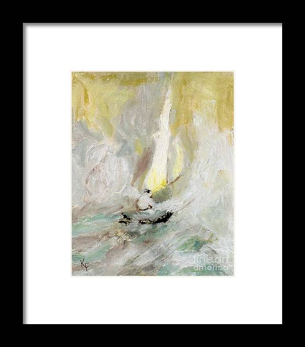 Sailboat Framed Print featuring the painting Out To Sea by Kathleen Farmer