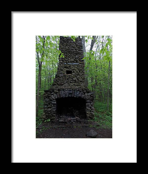 Nature Framed Print featuring the photograph Outdoor Fireplace by Catherine Gagne