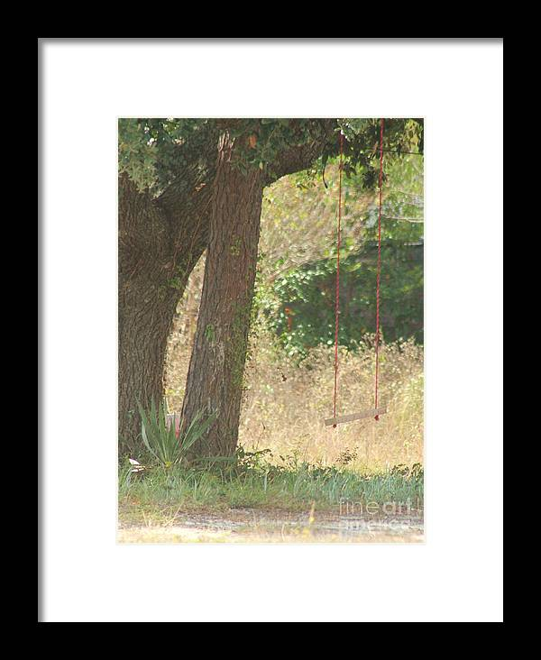 Swing Framed Print featuring the photograph Outdoor Swing by Michelle Powell