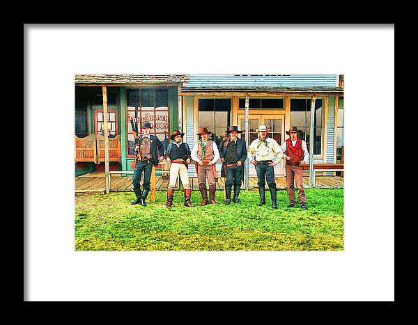 Outlaw Framed Print featuring the digital art Outlaws Or Lawmen by Ken Unger